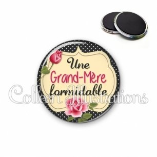 Magnet 56mm Grand-mère formidable (061NOI01)