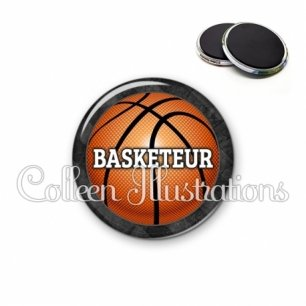 Magnet 56mm Basketteur (062GRI01)