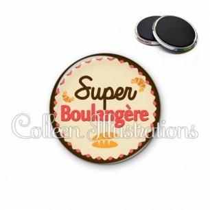 Magnet 56mm Super boulangère (064MAR02)