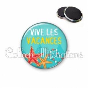 Magnet 56mm Vive les vacances (069BLE01)