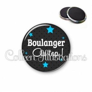 Magnet 56mm Boulanger au top (073GRI01)