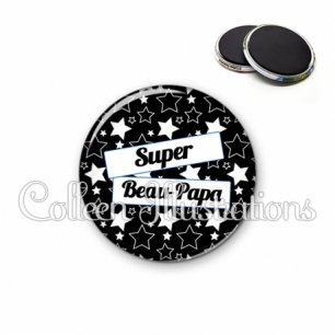 Magnet 56mm Super beau-papa (077NOI01)