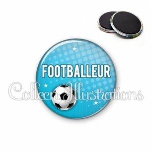 Magnet 56mm Footballeur (082BLE02)