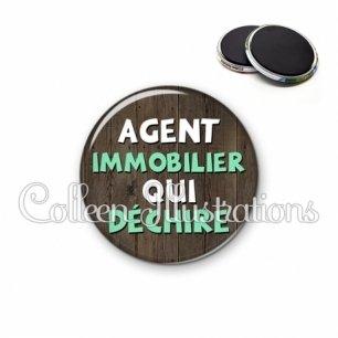 Magnet 56mm Agent immobilier qui déchire (086MAR01)