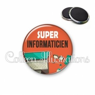 Magnet 56mm Super informaticien (088ORA01)