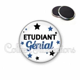 Magnet 56mm Etudiant génial (092BLA01)