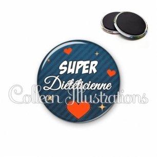 Magnet 56mm Super diététicienne (103BLE01)
