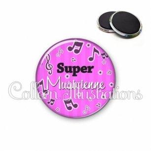 Magnet 56mm Super musicienne (108ROS01)