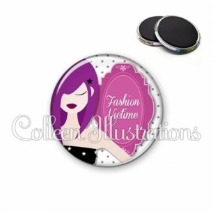 Magnet 56mm Fashion victime (110BLA01)