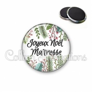 Magnet 56mm Joyeux Noël Maîtresse (114BLA01)