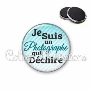 Magnet 56mm Photographe qui déchire (116BLE01)
