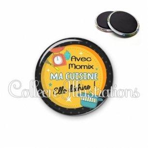 Magnet 56mm Avec Momix ma cuisine elle déchire (124ORA01)