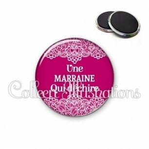 Magnet 56mm Marraine qui déchire (126ROS01)