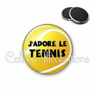 Magnet 56mm J'adore le tennis (130JAU01)