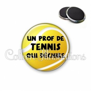 Magnet 56mm Prof de tennis qui déchire (130JAU01)