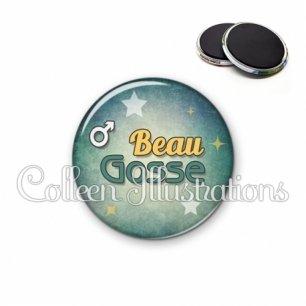 Magnet 56mm Beau gosse (134VER01)