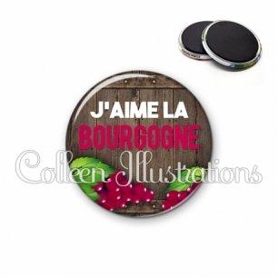 Magnet 56mm J'aime la bourgogne (137MAR04)