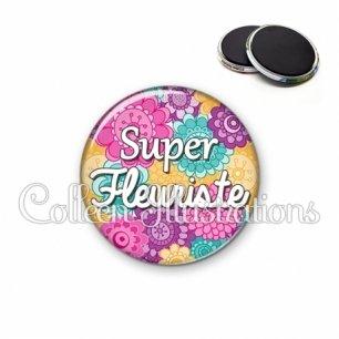 Magnet 56mm Super fleuriste (140MUL01)