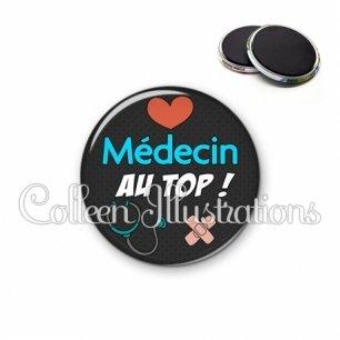 Magnet 56mm Médecin au top (155NOI01)
