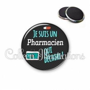 Magnet 56mm Pharmacien qui déchire (156GRI01)
