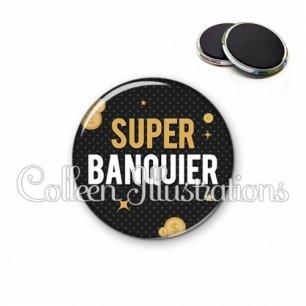 Magnet 56mm Super banquier (158GRI01)