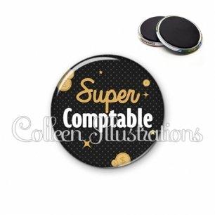 Magnet 56mm Super comptable (158GRI01)