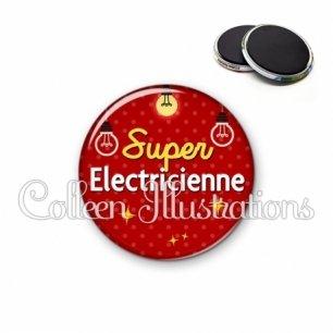Magnet 56mm Super électricienne (159ROU01)