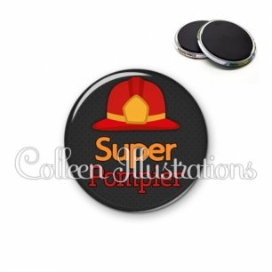 Magnet 56mm Super pompier (160GRI01)