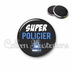 Magnet 56mm Super policier (162GRI01)