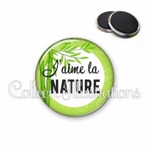 Magnet 56mm J'aime la nature (165VER01)