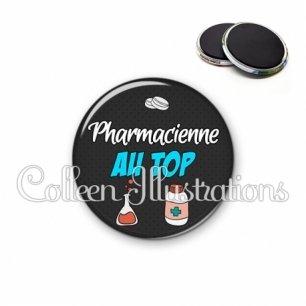 Magnet 56mm Pharmacien au top (166GRI01)