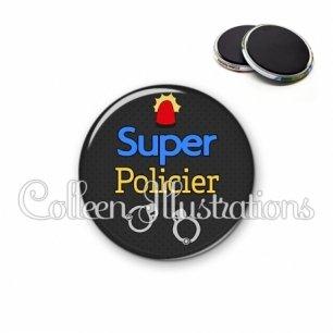 Magnet 56mm Super policier (167GRI02)