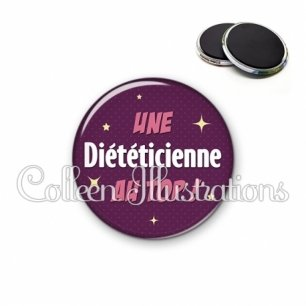 Magnet 56mm Diététicienne au top (169VIO01)