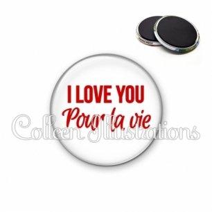 Magnet 56mm I love you pour la vie (181BLA02)