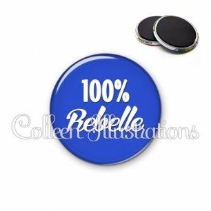 Magnet 56mm 100% rebelle (181BLE09)