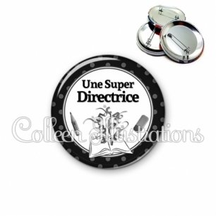 Badge 56mm Super directrice (001NOI02)