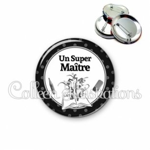 Badge 56mm Super maître (001NOI02)