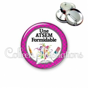 Badge 56mm Atsem formidable (001ROS03)