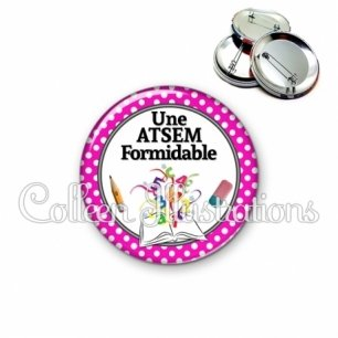 Badge 56mm Atsem formidable (001ROS04)