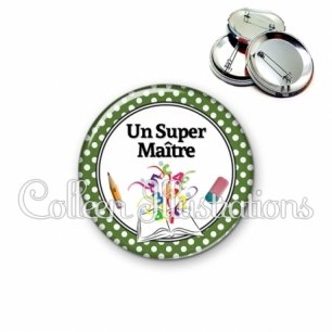 Badge 56mm Super maître (001VER07)