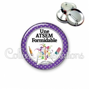 Badge 56mm Atsem formidable (001VIO01)