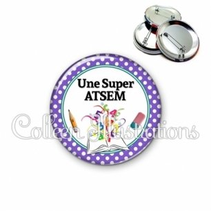 Badge 56mm Super atsem (001VIO02)
