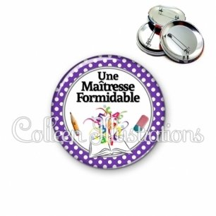 Badge 56mm Maîtresse formidable (001VIO03)