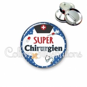 Badge 56mm Super chirurgien (002BLE01)