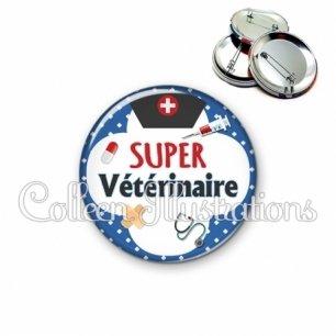 Badge 56mm Super vétérinaire (002BLE01)