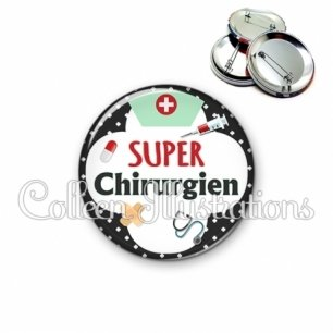 Badge 56mm Super chirurgien (002NOI01)