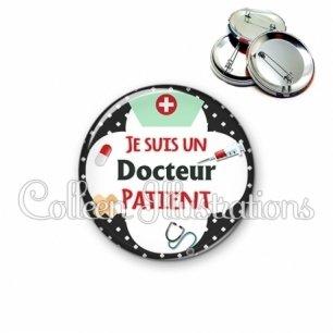 Badge 56mm Docteur patient (002NOI01)