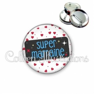 Badge 56mm Super marraine (003BLA01)