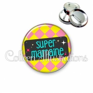 Badge 56mm Super marraine (003MUL05)