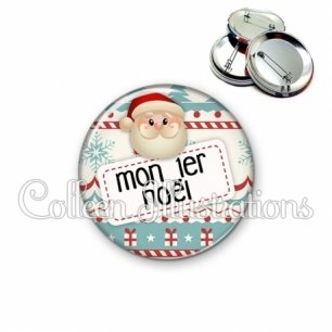 Badge 56mm Mon 1er Noël (003MUL06)